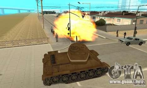 Tanque T-34 para la visión correcta GTA San Andreas