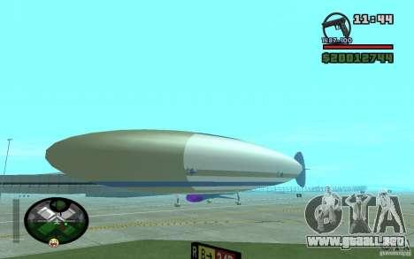 Dirigible grande para GTA San Andreas vista posterior izquierda