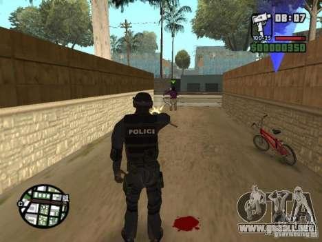 Comando de los SWAT 4 para GTA San Andreas quinta pantalla