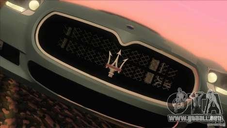 Maserati Quattroporte Sport GT V1.0 para la visión correcta GTA San Andreas