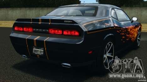 Dodge Challenger SRT8 392 2012 para GTA 4 Vista posterior izquierda