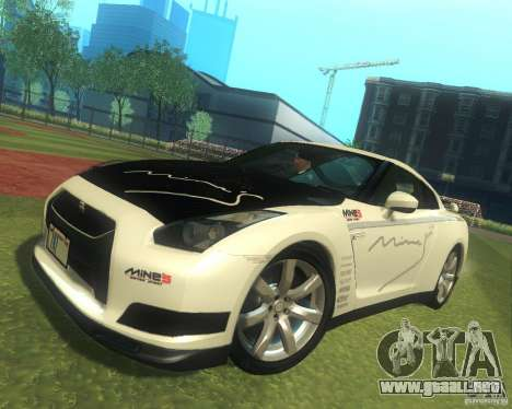 Nissan GTR R35 Spec-V 2010 Stock Wheels para GTA San Andreas