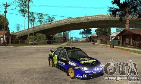 Subaru Impreza STi WRC wht1 para visión interna GTA San Andreas