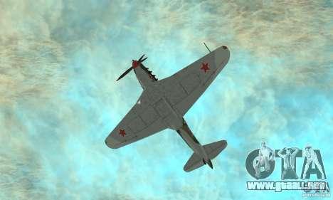 Yak-9 durante la II Guerra Mundial para vista lateral GTA San Andreas
