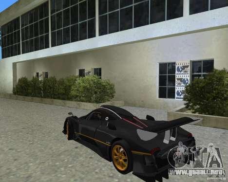 Pagani Zonda R para GTA Vice City visión correcta