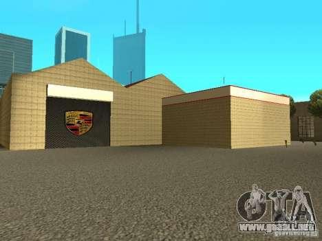 Garaje de Porsche para GTA San Andreas quinta pantalla