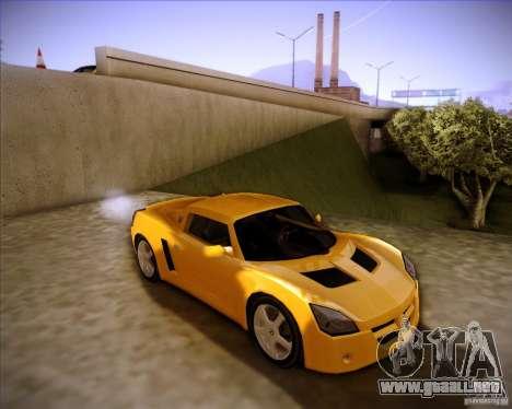 Opel Speedster para GTA San Andreas vista posterior izquierda