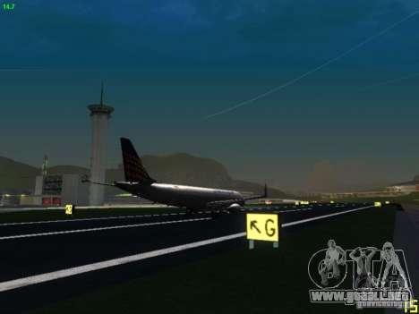 Embraer ERJ 190 Lufthansa Regional para GTA San Andreas vista hacia atrás