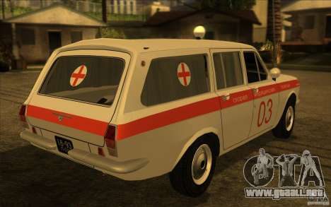 Ambulancia Volga GAZ-24 03 para GTA San Andreas left