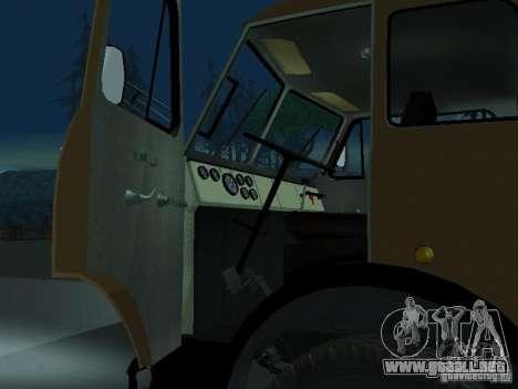 Camión MAZ 503a para GTA San Andreas vista hacia atrás