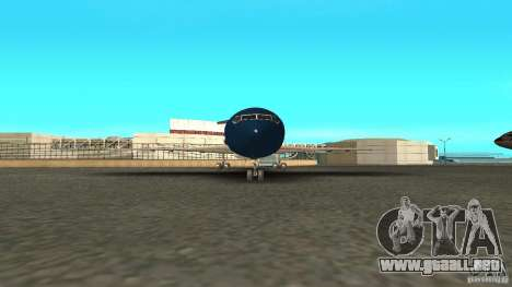 Boeing 727-200 Final Version para GTA San Andreas vista posterior izquierda