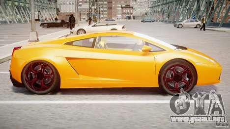 Lamborghini Gallardo Superleggera para GTA 4 Vista posterior izquierda