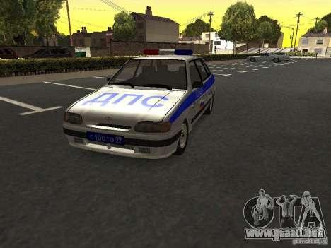 ВАЗ 2114 policía para la visión correcta GTA San Andreas