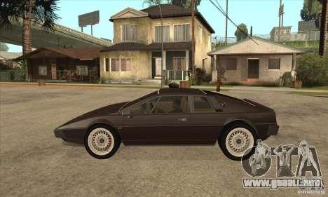 Lotus Esprit S3 para GTA San Andreas left