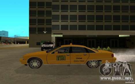 Chevrolet Caprice taxi para GTA San Andreas vista posterior izquierda