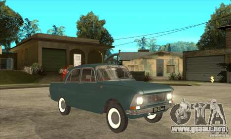 Moskvich 412 para GTA San Andreas vista hacia atrás