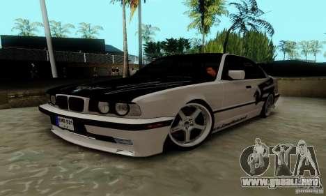 BMW E34 540i Tunable para la visión correcta GTA San Andreas