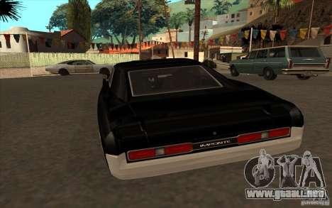 Duques de GTA4 para GTA San Andreas vista posterior izquierda