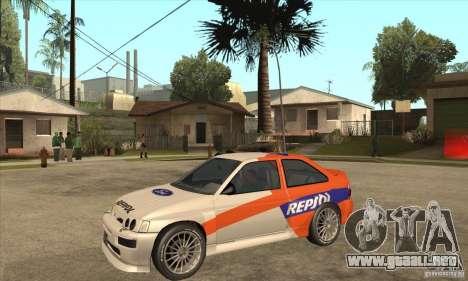 Ford Escort RS Cosworth para GTA San Andreas left