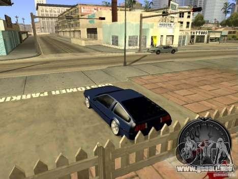 Delorean DMC-12 Drift para la visión correcta GTA San Andreas