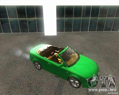 Audi A4 Convertible 2005 para GTA San Andreas vista hacia atrás