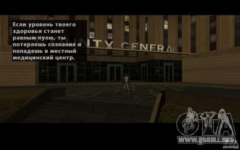 Localización del equipo de SanLtd para GTA San Andreas quinta pantalla
