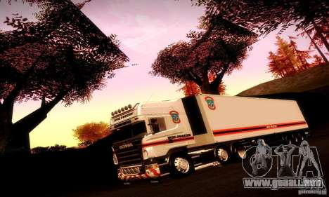 Rusia FEMA Trailer para vista lateral GTA San Andreas