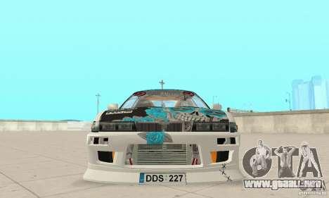 Nissan Silvia S13 NonGrata para GTA San Andreas vista hacia atrás