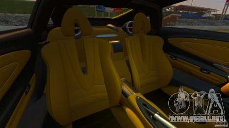 Pagani Huayra 2011 [EPM] para GTA 4 vista hacia atrás