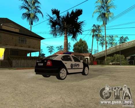 Skoda Octavia II 2005 SAPD POLICE para la visión correcta GTA San Andreas