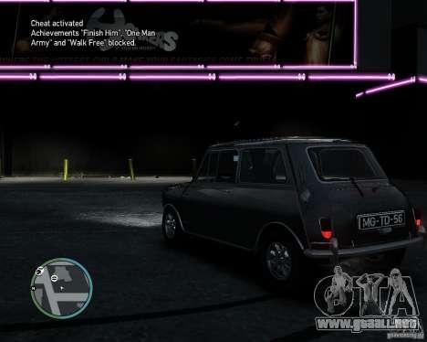 Austin Mini Cooper S para GTA 4 visión correcta