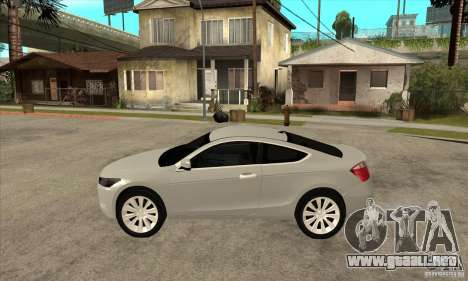 Honda Accord Coupe 2009 para GTA San Andreas left