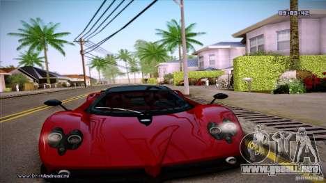 Paradise Graphics Mod (SA:MP Edition) para GTA San Andreas sucesivamente de pantalla