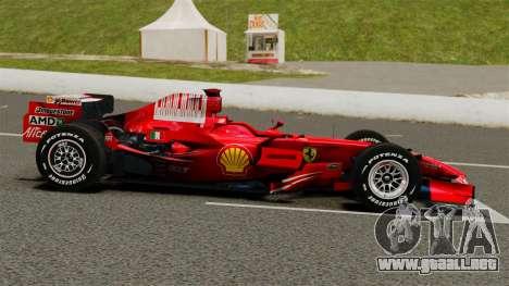 Ferrari F2008 para GTA 4 left