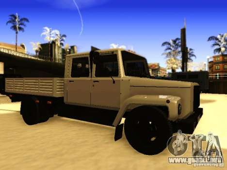 GAZ 3309 doble fila para GTA San Andreas left