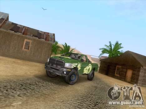Dodge Ram Trophy Truck para GTA San Andreas vista hacia atrás