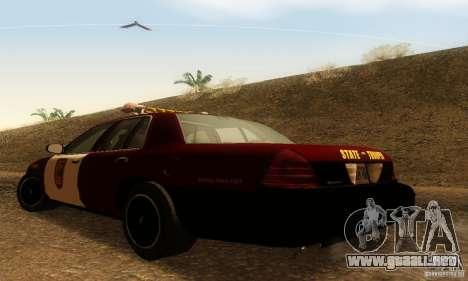 Ford Crown Victoria Minnesota Police para GTA San Andreas left