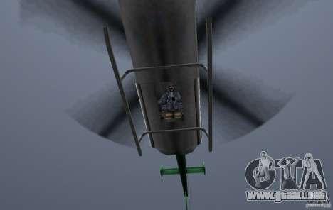 VCPD Chopper para GTA Vice City vista posterior