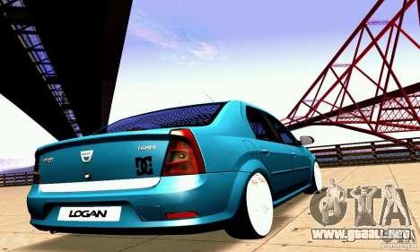 Dacia Logan 2008 para vista lateral GTA San Andreas