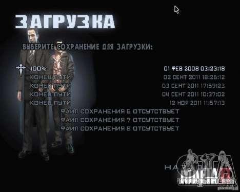 Pantallas de carga de Mafia 2 para GTA San Andreas sucesivamente de pantalla