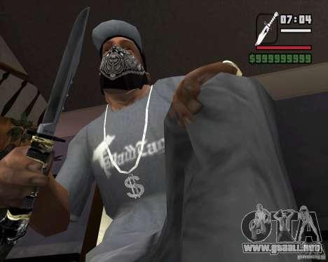 El cuchillo de la acosadora # 2 para GTA San Andreas segunda pantalla