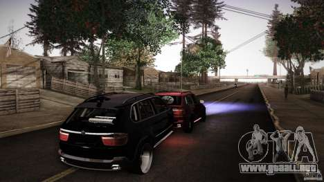 BEAM X5 Trailer para GTA San Andreas vista posterior izquierda