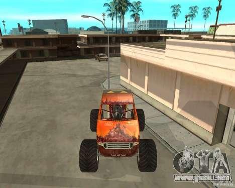 Mighty Foot para GTA San Andreas left