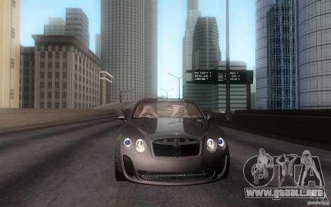 Bentley Continental SS para GTA San Andreas vista posterior izquierda