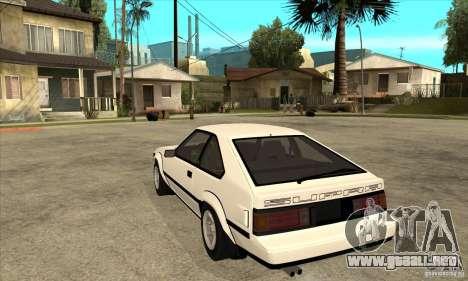 Toyota Celica Supra 1984 para GTA San Andreas vista posterior izquierda
