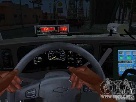 Chevrolet Suburban Los Angeles Police para la visión correcta GTA San Andreas