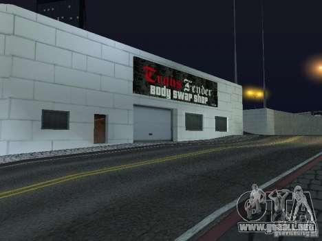 Nuevo salón del automóvil Wang Cars para GTA San Andreas sucesivamente de pantalla