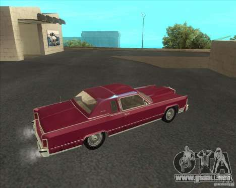 Lincoln Continental Town Coupe 1979 para GTA San Andreas left