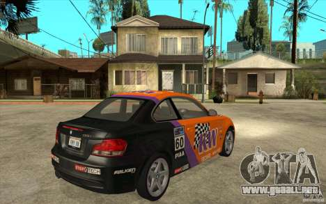 BMW 135i Coupe para GTA San Andreas vista hacia atrás