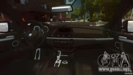BMW Motorsport X6 M para GTA 4 visión correcta